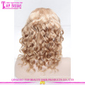 Циндао высокое качество необработанные свободная волна Виргинских бразильских волос кружева перед парик