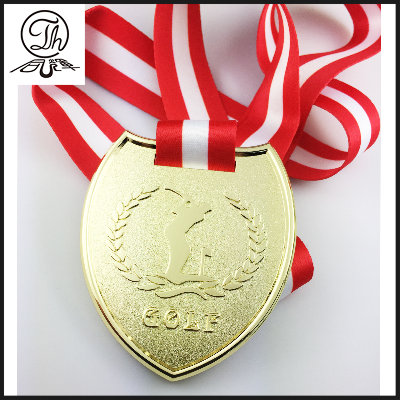 Promotional custom silver enamel athlete sports medal