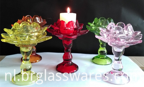 glass candle holder 12