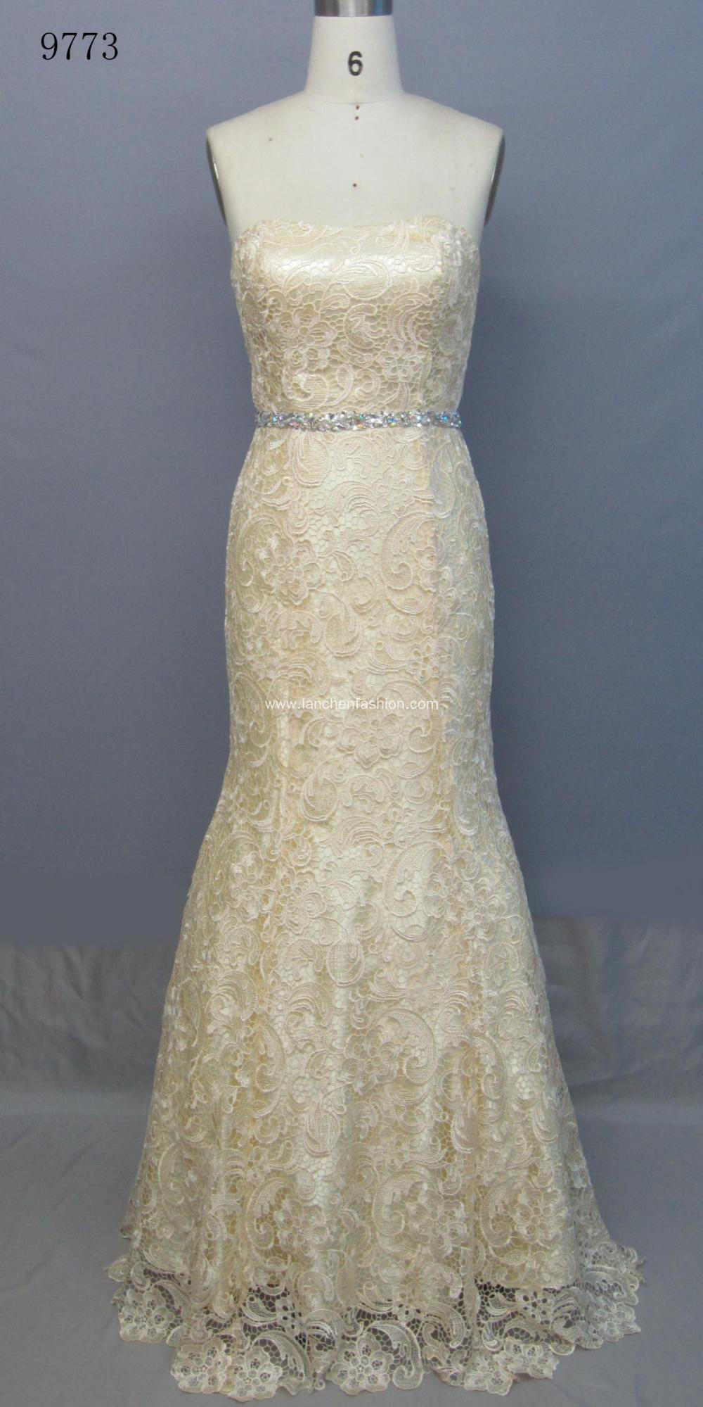 Lace Long Youth Wedding Dresses