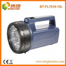 Alimentation en usine Matériau ABS Batterie 4D Super Bright 15led Handheld Portable led Lights de secours