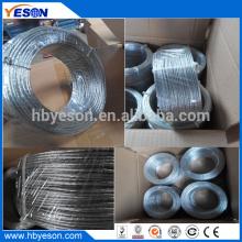 7 hilos trenzados de alta resistencia de alta resistencia multistrand galvanizado alambre