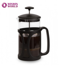Amazon Hot Selling Durable Double Wall Filters Plastic Frame Borosilicate Glass French Press 1 Liter