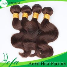 100% unverarbeitete Menschenhaarverlängerung / Remy Virgin Haareinschlagfaden