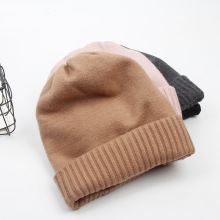 Knitted hat men's woollen handmade winter hat