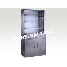 (C-6) Gabinete de medicina de aço inoxidável com gavetas