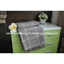 Tejido lana de /50%Viscose de lana Merino 50% del tiro (NMQ-WT040)