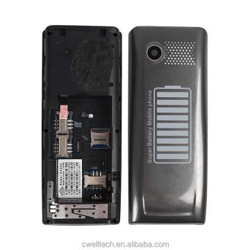 New arrival 2.4 inch Quad Band GSM 5000mah Big Battery 3 Sim Card Mobile Phones