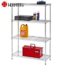 4 Tiers NSF Home aço Chrome estantes Shelving Rack (LD9035150A4C)