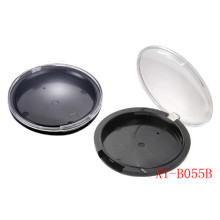 Nhựa phẳng Vòng phẳng Loose Powder Compact Container