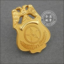 Gold Plated Military Badge Custom Security Badge (GZHY-BADGE-086)