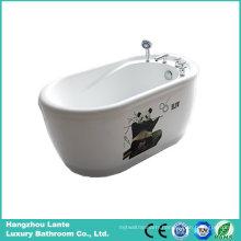 Acrylic Freestanding Bathtub with Printed Panda (LT-1E)