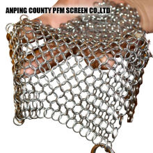 Square Shape Stainless Steel 316 Round Chainmail Scrubber