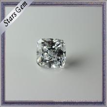 Excelente princesa Cut Clear White CZ piedras preciosas para joyería