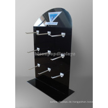 12 Haken 3-Schicht Schwarz Metall Zähler Top Kommerzielle Ausrüstung Cusom Trockene Zelle Batterie Display Racks