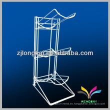 Sturdy soldado 3 niveles blanco 5gallon estante de botella de agua de metal estante de exhibición