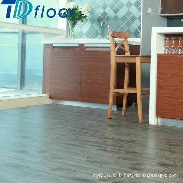 Plancher imperméable de vinyle de PVC de dos sec