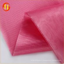 Tissu en organza rigide en polyester pour robe de mariée