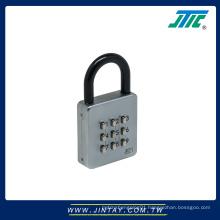 Digital combination push button padlock