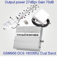 Усилитель мобильного сигнала мощностью 27 дБм Двухдиапазонный репитер GSM 900/1800 МГц GSM Dcs