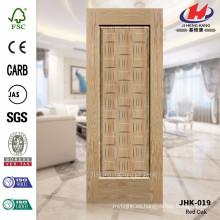 JHK-019 La Mejor Venta En Arabia Saudita Hotel Oak Veneer Proveedor Puerta Piel