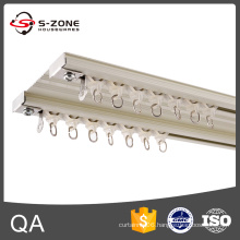 Szone GD15 Ceiling mounted aluminum double curtain track for home decor