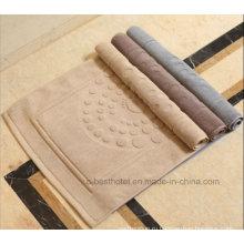 Нескользящий коврик для ванной из 100% хлопка Жаккардовое напольное полотенце