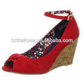 Платья сандалии девушки ботинка женщин конструкции способа сексуальных девушок самой последней конструкции 2015 сексуальные красные