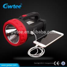 Fabriqué en Chine Super brillant USB Chargeur rechargeble led ledlight torche