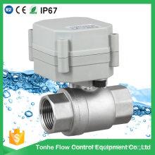 """NSF61 1 """"Controle elétrico do atuador de 2 polegadas Válvula de esfera motorizada Dn25 Cr201"""