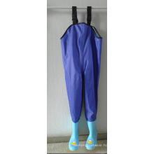 Blue Color Kids PVC Chest Wader PVC-002