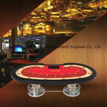 Texas Poker Oval Disk Feet Casino Table (YM-TB021)