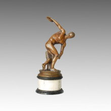 Sports Statue Discus Throw Bronze Sculpture, Myron TPE-114