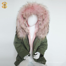 Factory Direct Versorgung Winter Fox Coat und Kind Kinder Jacke