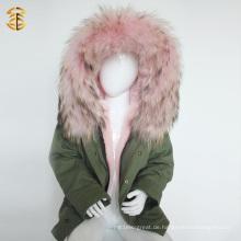 Factory Direct Versorgung Winter Fox Coat und Kind Kinder Jacke