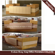 (HX-5N238) Cherry Office Reception Counter Table Wooden Melamine Office Furniture
