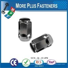 Fabriqué à Taiwan Black Blue Chrome Bulge Open Ended Acorn Lug Nut Pitch Thread