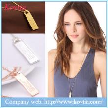 Новые продукты 2016 18k позолоченное ожерелье набор длинных цепочек бар ожерелье
