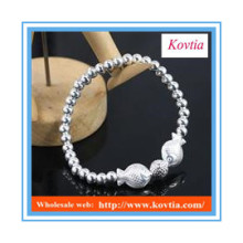 Bracelets à bracelets en perles en argent sterling 925 en forme de mode