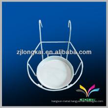 White powder coated metal flower pot basket models hanging wire flower racks for sale