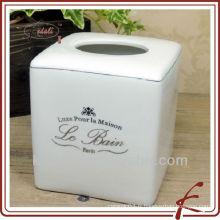 Boîte en tissu blanc en porcelaine