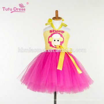 Баранчик новорожденных девочек туту платье ребенок дети день рождения вечеринку тюль платья для костюм девушки косплей мультфильм платье принцессы