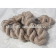 100% Pure Mongolian Brown Goat Cashmere Tops 16.5mic/44-46mm