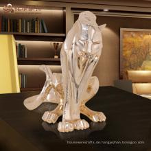 Fabrik benutzerdefinierte Leben Größe Tier antike Harz Tiger Statue zum Verkauf