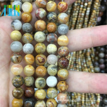 jewelry stone beads 10mm smooth natural agate stone