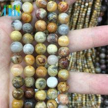 grânulos de pedra da jóia pedra lisa natural da ágata de 10mm