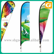 High quality advertising 3 Meter flag pole water injection flag for sale