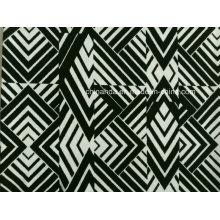 Simple Black & White Pattern Printing Fabric for Swimwear (HD1401108)