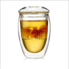 350 мл (12 унций) Стеклянный чашки с двойной стеной