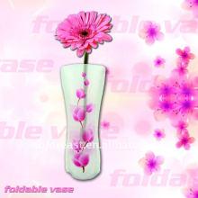 Vase pliable en plastique transparent réutilisable et respectueux de l'environnement